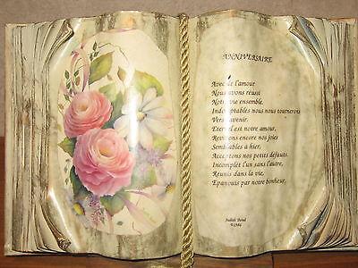 *NEW* Cadre Livre ANNIVERSAIRE H.20cm L.30cm Judith Bond