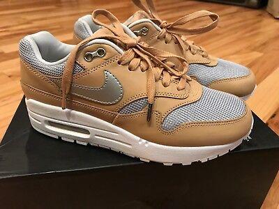 reputable site 58b08 b8f9c Nike Women s Air Max 1 SE PRM Vachetta Tan Metallic Silver AO0795 200 Size 5