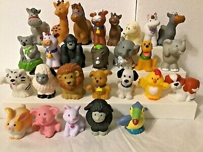 Fisher price /mattel Little people farm/zoo animal figurines, lot of 27