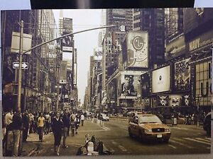 New York City Time Square Canvas Poster