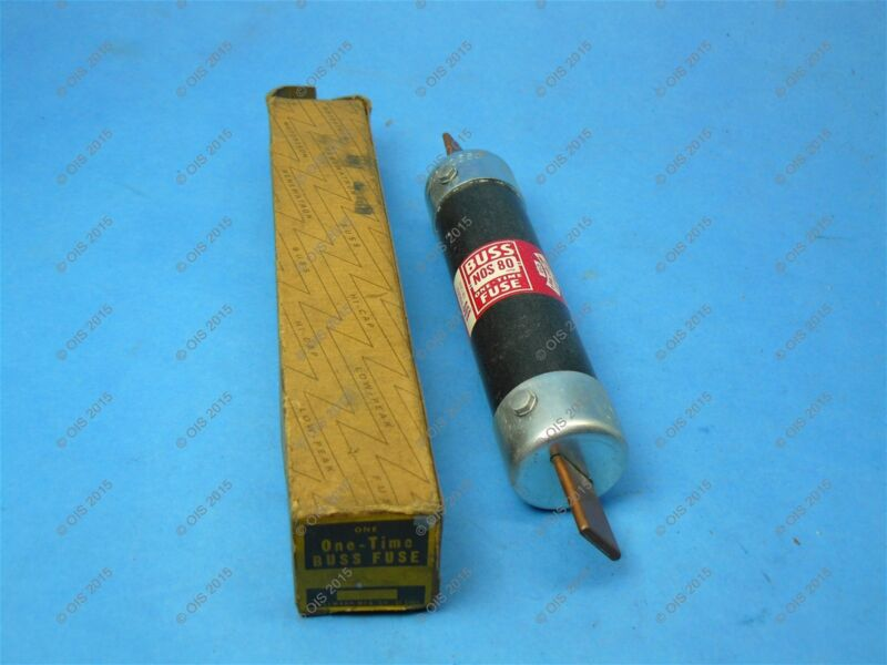 Bussmann NOS-80 One-time Fuse Class K5&H 80 Amps 600 VAC New
