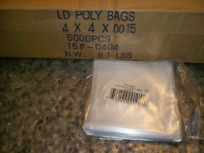 LD Clear Lay flat Poly Bags 1.5 mil 4