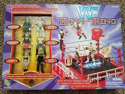 New Jakks WWF King of the Ring Mini Figures Unopened Rare The Rock Sunny