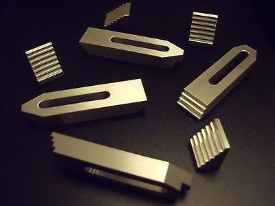 4 Aluminium Spannpratzen mit Treppensteinen,M5-M6,Spanneisen,Fräsen,Gravieren