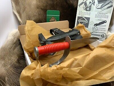 Pre 64 Vintage 6334 Puma Frogman Divers Knife With Red Handle & Sheath Mint Box