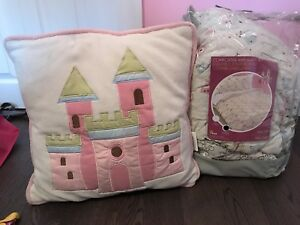Princess Double Comforter and Bedding with Matching Pillow