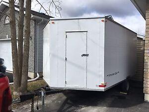 Enclosed trailer for sale. Ramp door