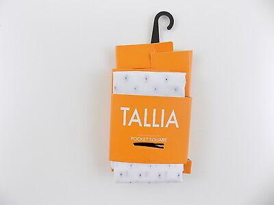 "TALLIA $95 White Plain WD 12.5"" MEN HANDKERCHIEF POCKET SQUARE 100% COTTON O30"
