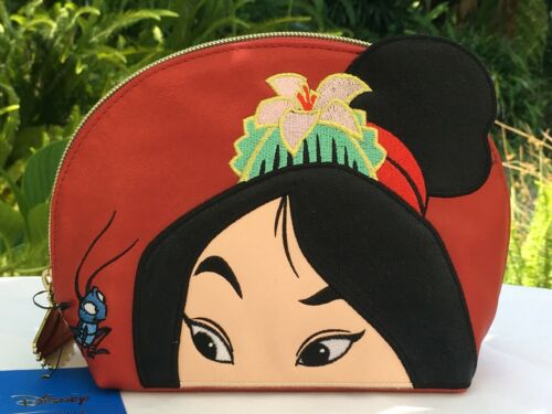 Disney Danielle Nicole Mulan Cri-Kee Red Cosmetic Makeup Bag Purse Pouch