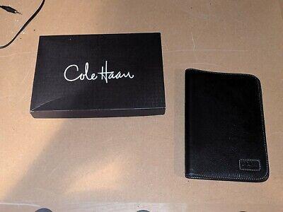 Cole Hahn Day Black Leather Runner Planner Organizer Portfolio Case - Nice
