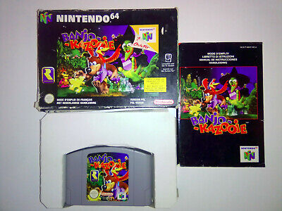 #N64 #Nintendo64 #Jeu - #Banjo-Kazooie - Emballage complet avec notice en FR...