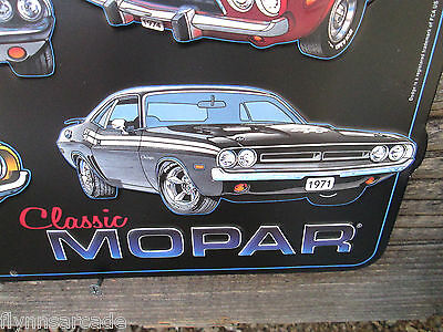 Dodge Challenger Large 3D Metal Display  Plymouth Petty Mopar RT TA SE 70 71 19