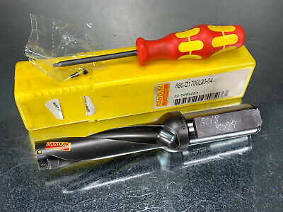 Sandvik 17mm Indexable Drill Corodrill 880 Replaceable Tip 880-d1700l20-04
