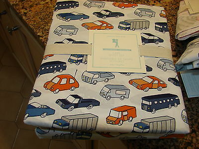 POTTERY BARN KIDS CARS SHEET SET IN TWIN SIZE ADORABLE FOR T