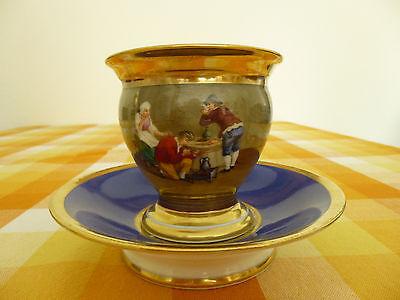 DARTE FRERES PARIS CABINET CUP & SAUCER *** Rare Antiquität ***