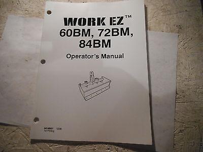 Work Ez 60bm 72bm 84bm Box Blade Operators Manual