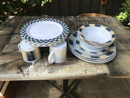 Camping melamine plates,  bowls,  cups