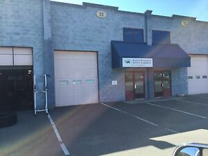 Warehouse/shop space for lease.