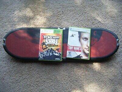Tony Hawk Shred Xbox 360 Video Game and Wireless Skateboard Ride Controller