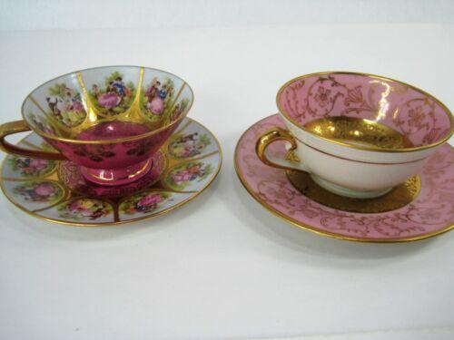 J.K. Decor Carlsbad Bavaria Love Story Courting Couple Teacup, Saucer Limoges Fr