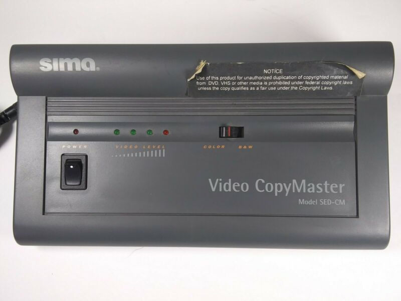 Sima Video CopyMaster SED-CM Automatic Video Enhancer and Duplicator   ~     C9A