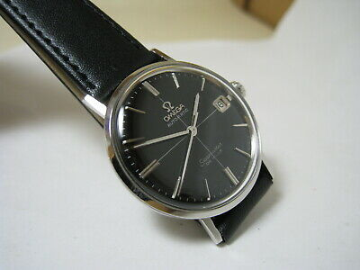 OMEGA SEAMASTER DE VILLE AUTOMATIC DATE BLACK DIAL STAINLESS STEEL 1961 WATCH