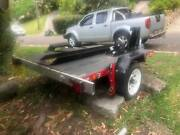 Motor bike trailer folding Easy trailer Avalon Pittwater Area Preview