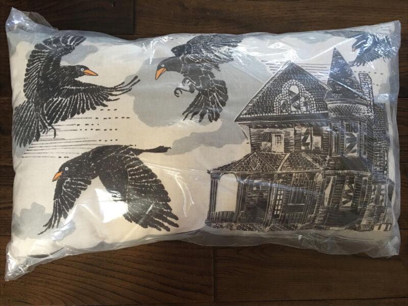 Pottery Barn Haunted Crow Indoor/Outdoor Lumbar Pillow - NIP VHTF RARE