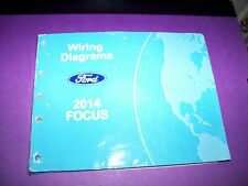 2014 FORD FOCUS Wiring Diagrams Manual MISSING BACK COVER ...