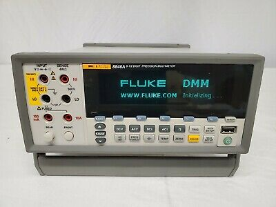 Fluke 8846a 6.5 Digit Dual Display Precision Multimeter 24 Ppm High Accuracy