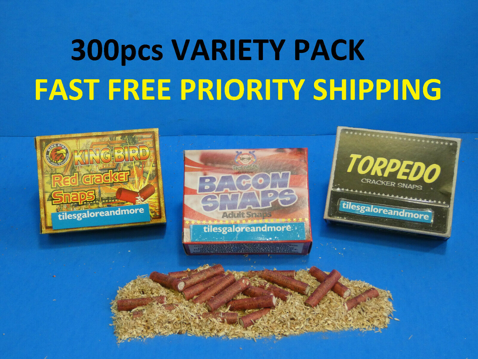 300 Adult Party Poppers 3 Kind Variety Pack Torpedo King Bir