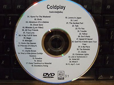 COLDPLAY THE COMPLETE MUSIC VIDEO DVD COLLECTION HYMN FOR THE WEEKEND BIRDS LOST