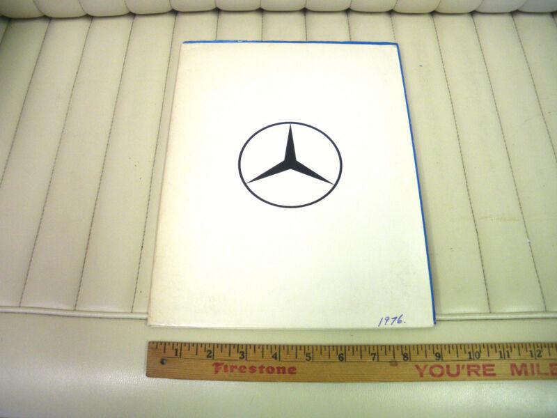 1976 Mercedes-Benz Car Press Kit Package Portfolio Brochure Canada