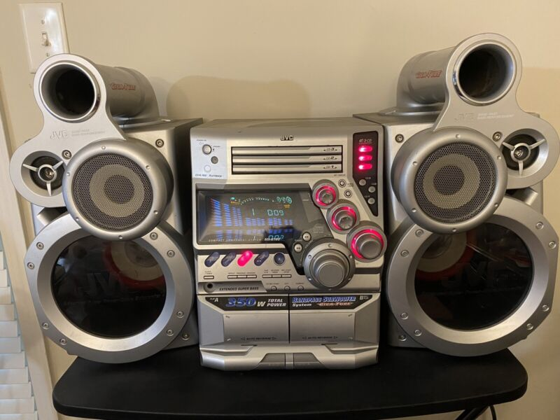 JVC  Stereo Receiver MX- GT80 with Speakers SP-MXGT80 Extended Super Bass