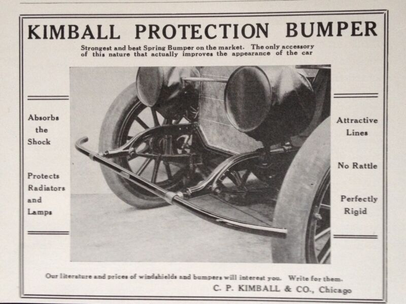 1914 AD(K23)~C.P. KIMBALL & CO. CHICAGO. KIMBALL BUMPER PROTECTION