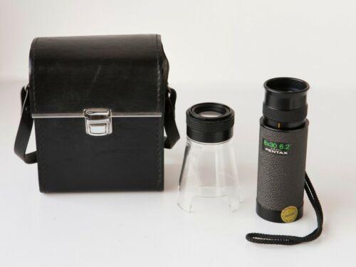 Rare VINTAGE PENTAX ASAHI 8 x 30 6.2 Monocular with Macro Magnifier Loupe, Case