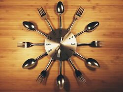 GEORGE NELSON Wall Clock Fork and Spoon Starburst 14