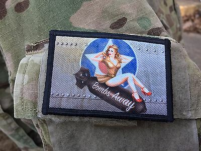 (Bombs Away WWII Bomber Pin up Girl Nose Art Morale Patch Tactical ARMY )