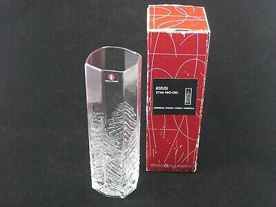 "Iittala Nuutajarvi ""Kuusi"" Vase Designed by Jorma Vennola (boxed)"