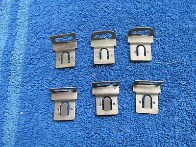 1940 DODGE CHRYSLER PLYMOUTH HEADLIGHT RING RETAINER CLIPS SET OF ( 6 )  NOS 918