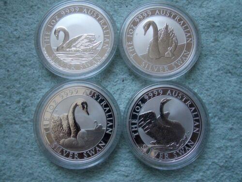 2017-2018-2019-2020 AUSTRALIAN SILVER SWAN 1 oz BU (set of 4 coins)