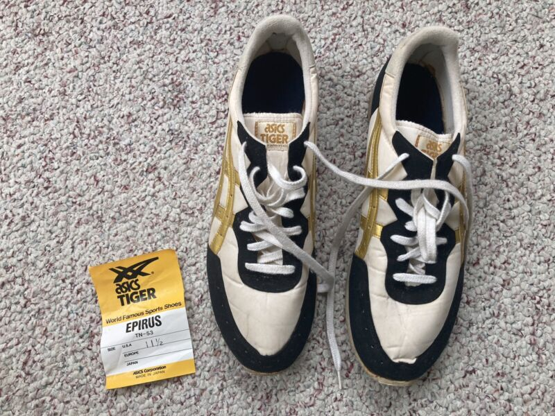 Vintage Asics Tiger Epirus Sneakers 11 1/2 Athletic Shoes Made In Japan