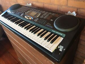 Casio electronic piano, stand and stool