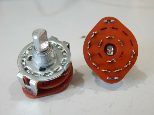 ROTARY SWITCH 8 POSITION SINGLE POLE NON-SHORTING WITH STOP - LOT OF 2 SWITCHES