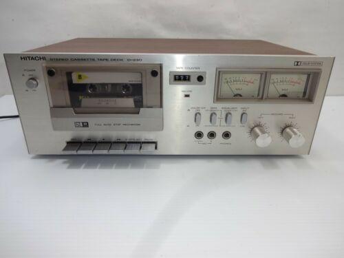 Vintage Hitachi D-230 Stereo CASSETTE Tape Deck
