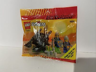 Lego 1491 Castle Black Knights Dual Defender New Sealed 1992