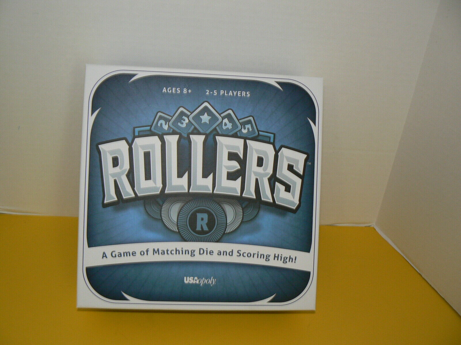 Rollers Board Game by USAopoly A Game of matching Die New
