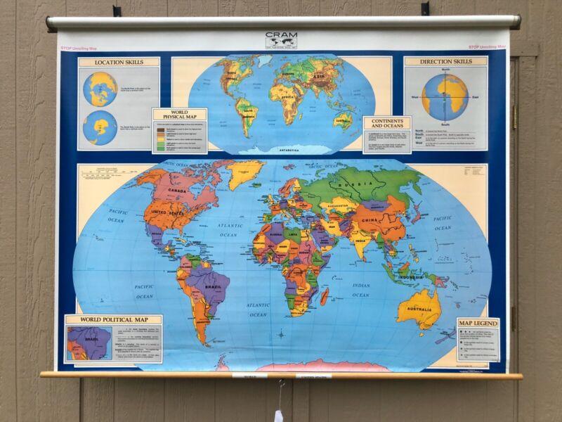 Cram World Pulldown Classroom Map