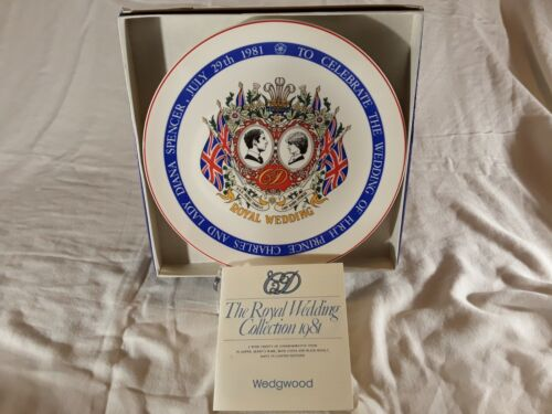 Wedgwood The Royal Wedding Collection 1981 Collector Plate Diana and Charles