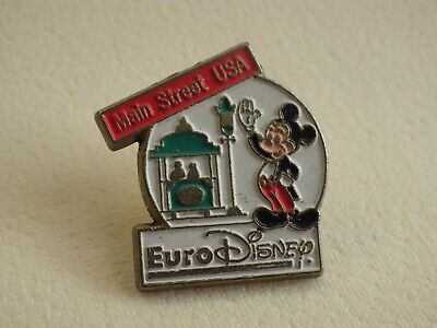 Pin's Vintage Collector Lapel Pin Adv Euro Disney Mickey Hand Street Lot D005